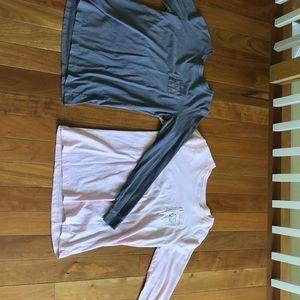 Ivory Ella long sleeve tees worn once size medium